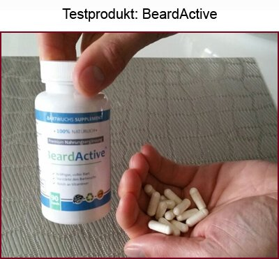 Bartwuchs Bartwuchsmittel BeardActive